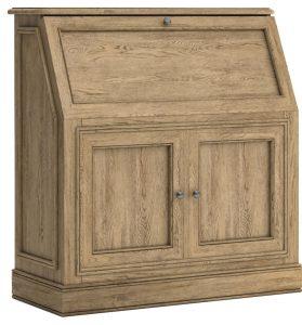 Versailles French Oak Bureau Desk   Fully Assembled
