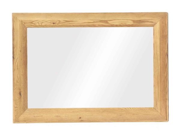 Besp-Oak Vancouver Oak Large Bevelled Rectangular Mirror – Reduced To Clear