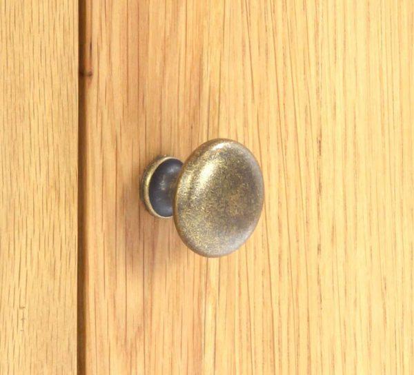 Besp-Oak Vancouver Oak 2 Door Glazed Small Dresser (Top Only) | Fully Assembled