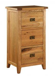 Besp-Oak Vancouver Oak 3 Drawer Filing Cabinet | Fully Assembled