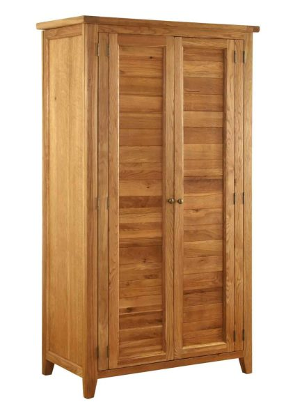 Besp-Oak Vancouver Oak 2 Door Full Hanging Double Wardrobe