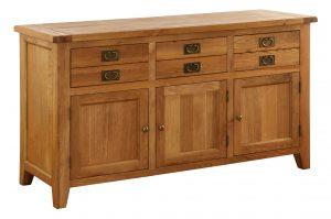 Besp-Oak Vancouver Oak 3 Drawer 3 Door Sideboard | Fully Assembled
