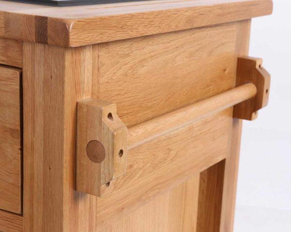 Besp-Oak Vancouver Oak Granite Top Kitchen Island   Fully Assembled