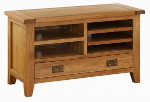 Besp-Oak Vancouver Oak TV Cabinet with 1 Drawer | Fully Assembled