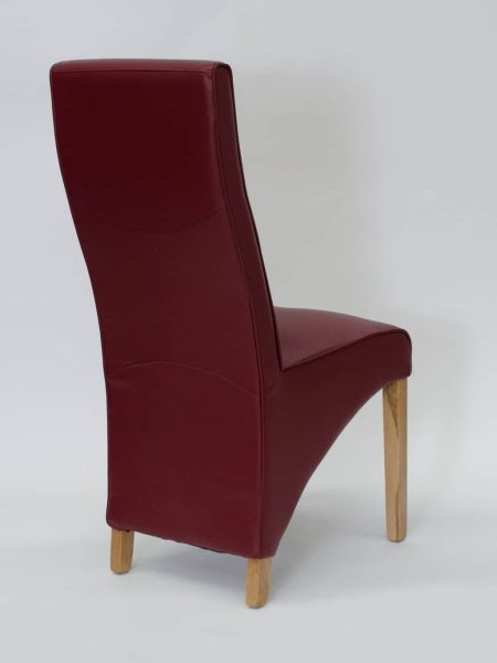 Wave Ruby Matt Leather Dining Chair (Pair)