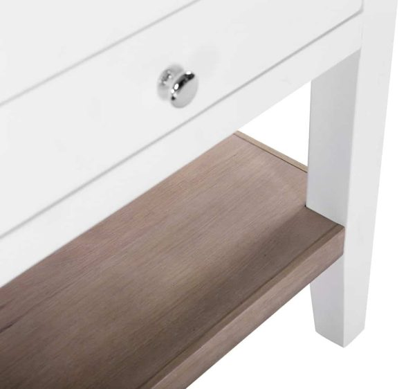 Besp-Oak Vancouver Chalked Oak & Pure White 1 Drawer Console Table