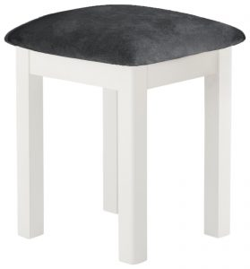 Classic Portland Painted White Stool
