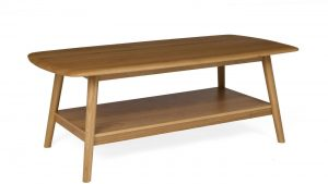 Malmo Scandi Style Oak 120cm Coffee Table With Shelf