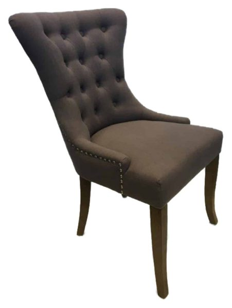 Grace Oak Dining Chair – slate (Pair)