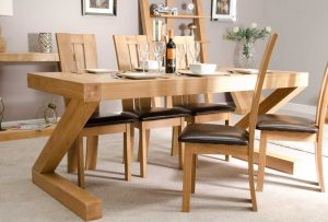 Homestyle Z Solid Oak 6′ x 3′ Dining Table