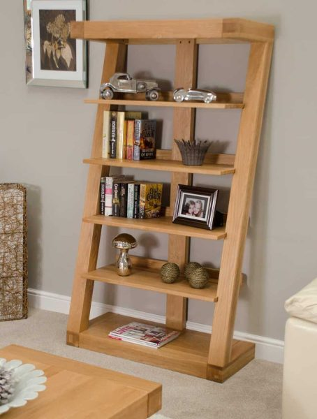 Homestyle Z Solid Oak Large Bookcase | Fully Assembled
