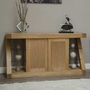 Homestyle Z Solid Oak Large Sideboard with 2 doors   Fully Assembled