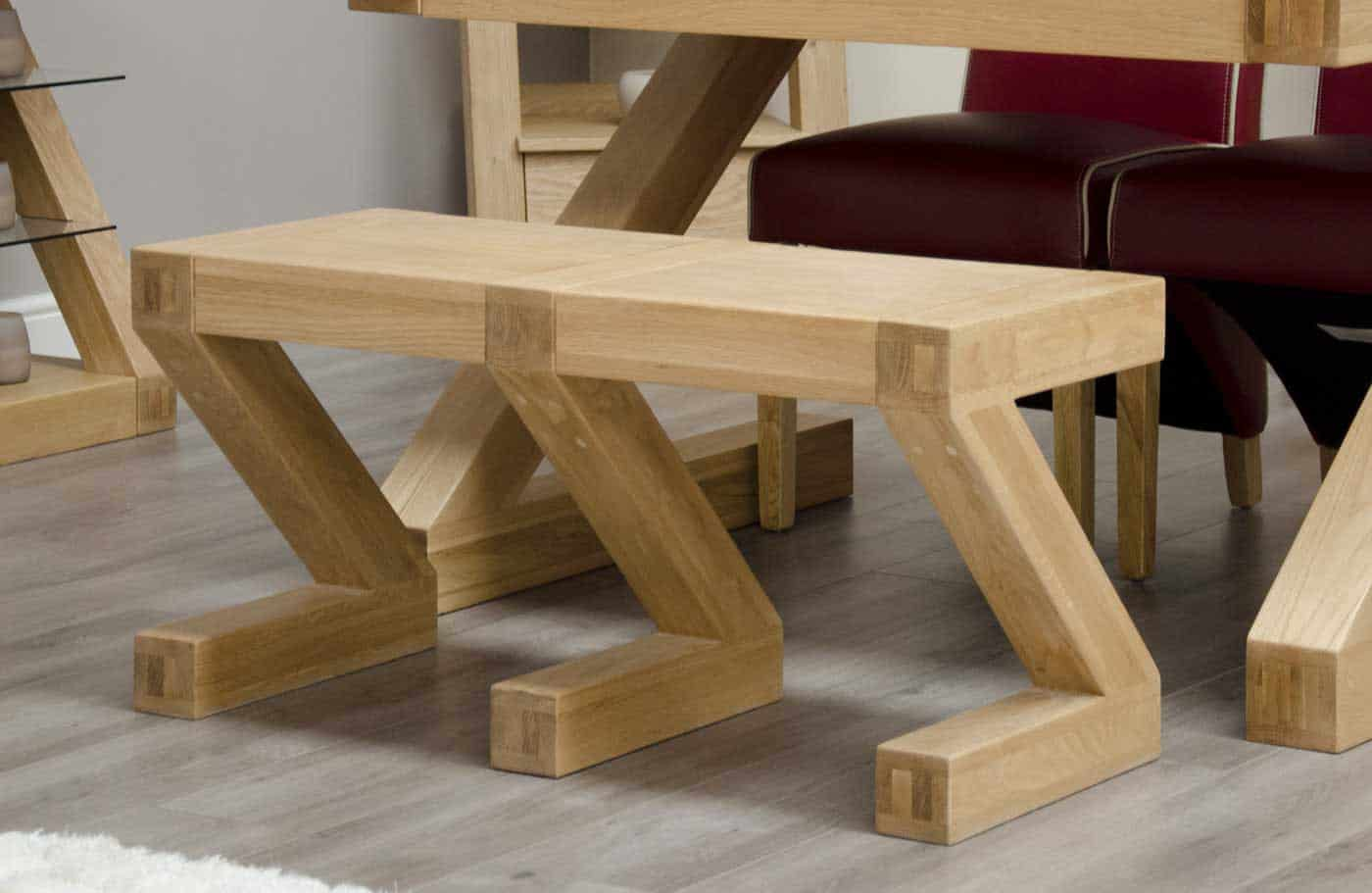Homestyle Z Oak Small Dining Bench