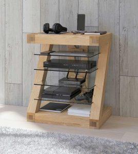 Homestyle Z Solid Oak Hifi Unit | Fully Assembled