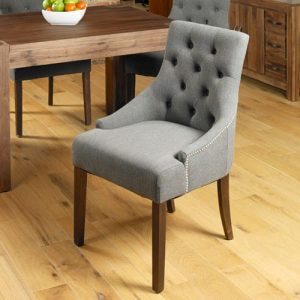 Walnut Accent Upholstered Dining Chair (Pack of Two)