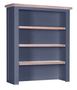 Besp-Oak Vancouver Chalked Oak & Downpipe Hutch with 3 Shelves (Top Only) | Fully Assembled