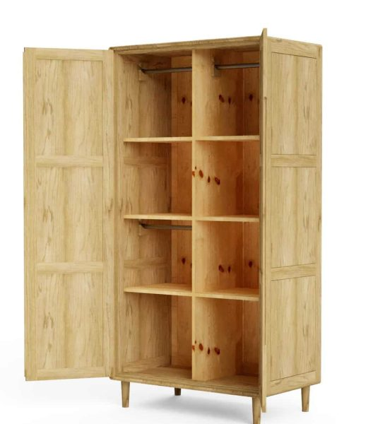 Homestyle Scandic Oak Double Wardrobe