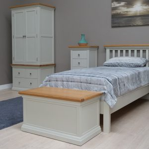 Cotswold Painted Grey With Oak Tops