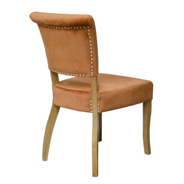 Capri Dining Chair Orange Velvet (Pair)