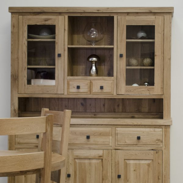 Homestyle Deluxe Solid Oak Large Dresser (Top Only) | Fully Assembled