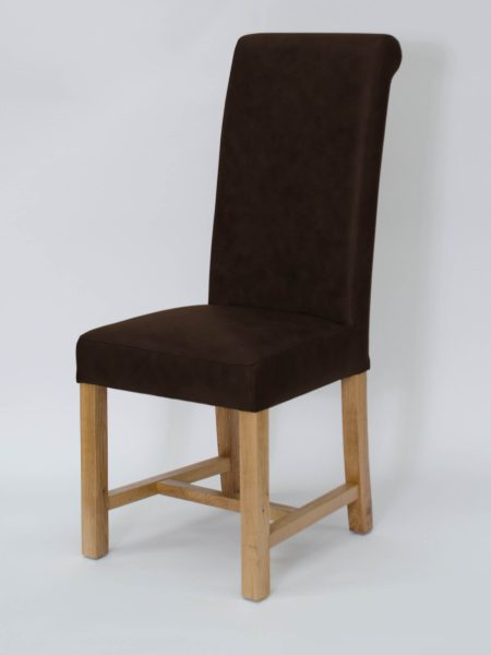 Henley Leather Dining Chair Espresso (Pair)