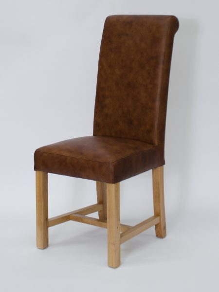Henley Leather Dining Chair Mocha (Pair)