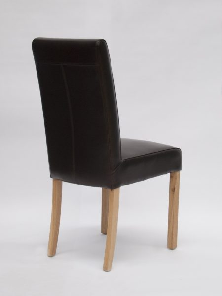 Marianna Brown Bycast Leather Dining Chair (Pair)