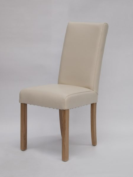Marianna Ivory Bycast Leather Dining Chair (Pair)