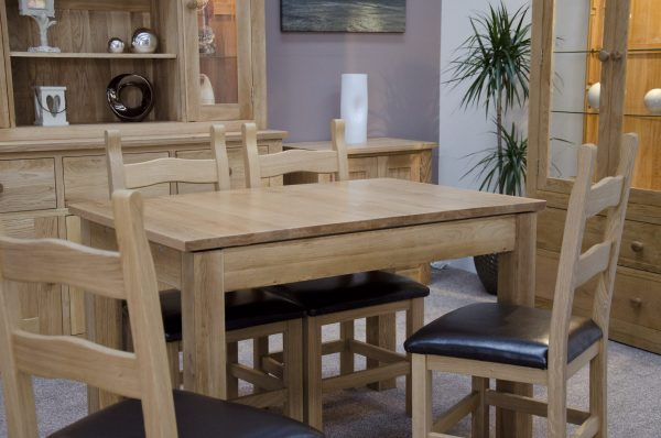 Homestyle Opus Solid Oak Milano Small Extending Dining Table