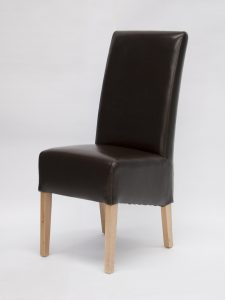 Oslo Brown Bycast Leather Dining Chair (Pair)