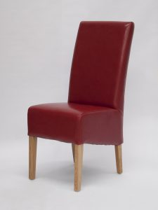 Oslo Red Bycast Leather Dining Chair (Pair)