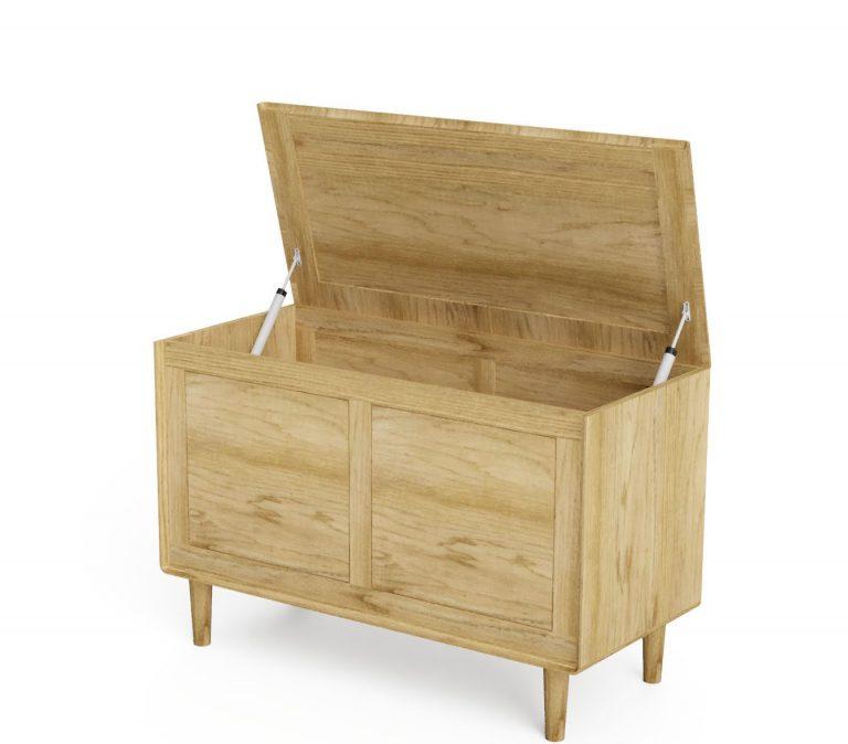 Homestyle Sandic Oak Blanket Box
