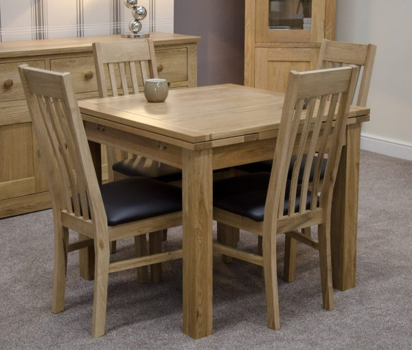 Homestyle Opus Small Draw Leaf Extending Dining Table