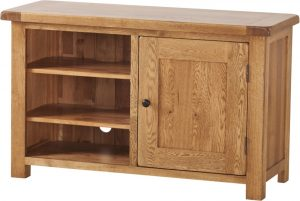 Country Rustic Oak Standard TV Cabinet | Fully Assembled