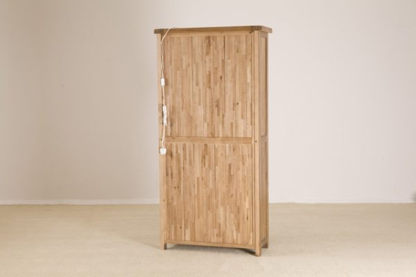 Country Rustic Glass Display Cabinet | Fully Assembled