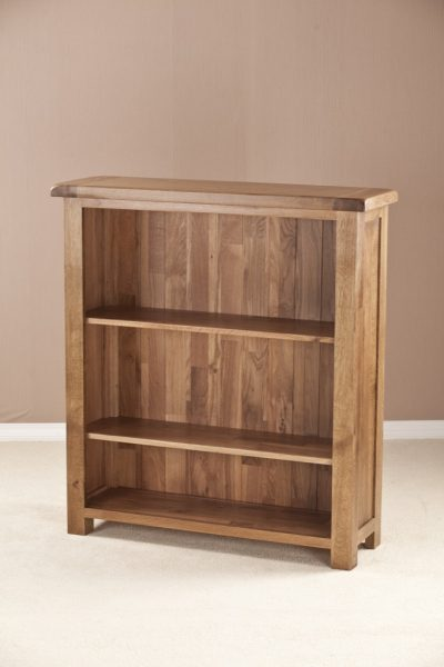 Country Rustic Oak 3′ Wide Bookcase with 2 Adjustable Shelves   Fully Assembled