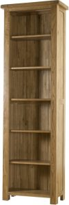 Country Rustic Oak 6′ Narrow Bookcase  | Fully Assembled