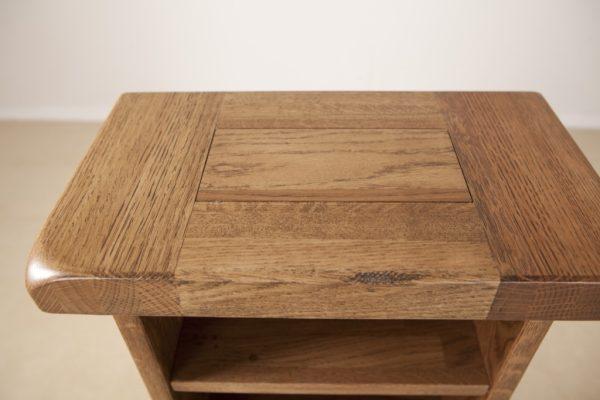 Country Rustic Oak CD Rack | Fully Assembled