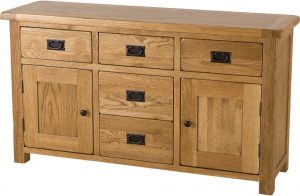 Country Rustic Oak Dresser Base| Fully Assembled