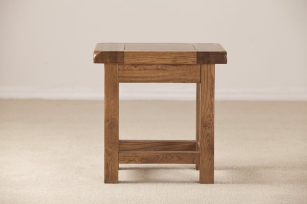 Country Rustic Oak Lamp Side Table | Fully Assembled