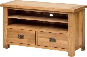 Suffolk Oak TV Cabinet with Drawers| Fully Assembled