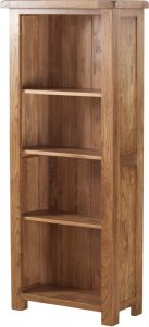 Country Rustic Oak 5′ Narrow Bookcase  | Fully Assembled