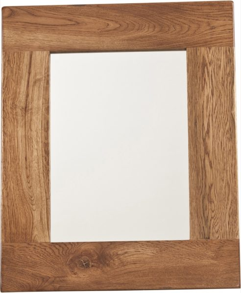 Country Rustic Oak Wall Mirror 750×600 | Fully Assembled
