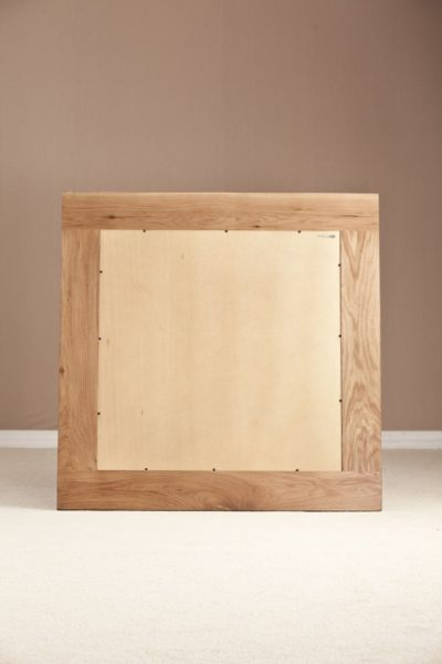 Country Rustic Oak Wall Mirror 900×900  | Fully Assembled