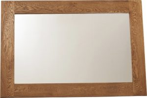 Country Rustic Oak Wall Mirror 1300×900 | Fully Assembled