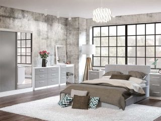 Lynx Bedroom Furniture Set Grey