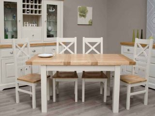 Painted Oak Dining Furniture Set
